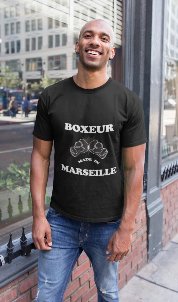 Tee shirt boxeur de marseille boxe art martial